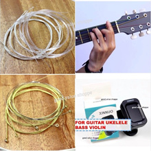 [SG] Guitar 6-Strings Set for Acoustic Classical Electric Guitar Ukelele / Mini Electric Tuner