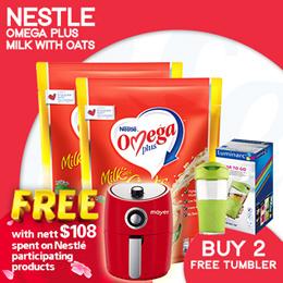 [NESCAFÉ] [SPEND $108 FREE AIR FRYER]  OMEGA Plus ActiCol Milk with Oats【
