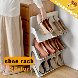 ▶Stackable Shoes Racks◀Space Saving Storage for Home n Dormitory-Simple n Easy-2 colors