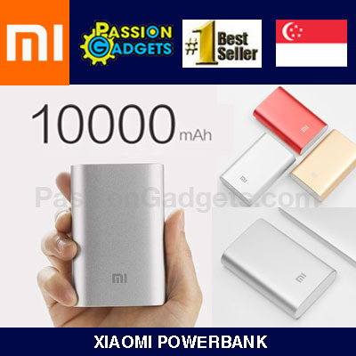 ?100% Authentic! FREE GIFT!?New 10000mAh SG Shop Assurance! Xiaomi 10400mAh Powerbank Portable Deals for only S$45 instead of S$0
