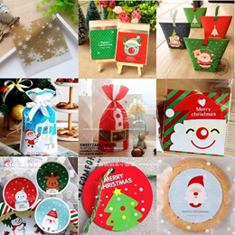 Christmas Gift Packaging Special / Cookie Bag / Gift Box / Seal Sticker / Gift Tag / Ribbon / Etc