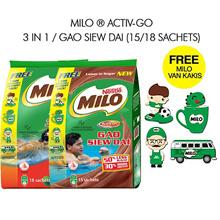 [[NESTLE]] MILO ACTIV-GO 3 In 1 Powder / MILO Gao Siew Dai. FREE Collectible Milo Van Kakis!