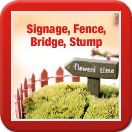 ◤Signages Fence Bridge◥ DIY Terrarium ♡ Plants ♡ Stairs ♡ Linkway ♡ Log ♡ Craft ♡ Art