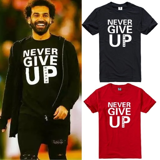 new styles f763e 38d9f Liverpool Mo Salah Never Give Up 2019 champions league semi-final Anfield  YNWA tee t-shirt