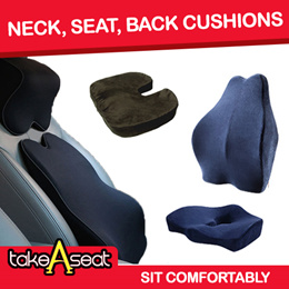 Ergonomic Memory Foam Cushion/  Car and Home Use/ Neck Back and Hip Support