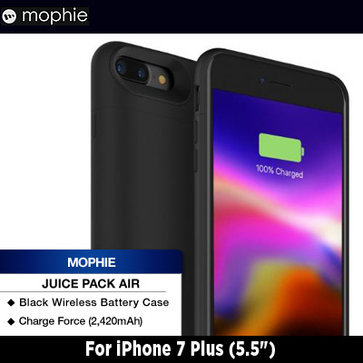 online store 549be 62562 MophieMophie iPhone 7 Plus 5.5 Juice Pack Air Charge Force Wireless Battery  Case (2420mAh) Black