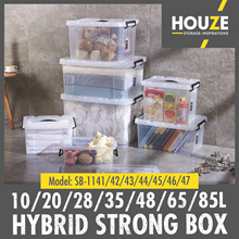 * Set of 3 * 10L - 85L Hybrid Strong Box ♦ Strong And Durable ♦ 100% Virgin PP