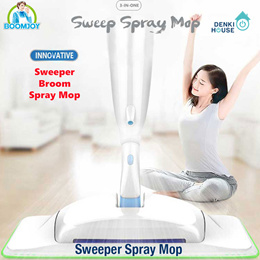 [BoomJoy] P10 / 3-in-1 Spray mop/2018 latest model/ sweeper + broom + spray mop / innovative product