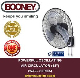 "545a3961258  BOONEY  Powerful Oscillating Air Circular (18"")(Aluminium Fan Blade)"