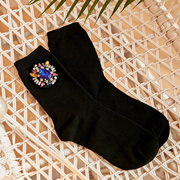 [로코식스] blue jewels golgi socks
