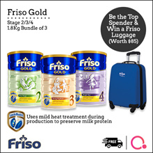 [FRISO] Friso Gold 234 1.8kg – 3 tin bundle | Made in Netherlands for SG | Official Friso Seller