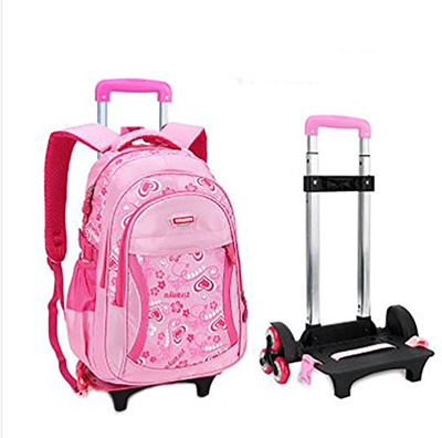 Meetbelify Kids Rolling Backpacks Luggage Six Wheels Trolley School Bags  Climbing Stairs For Girls P ed8370aa11f10