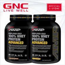 GNC PP AMP Gold 100% Whey Protein Advanced 5 lbs [Sports Nutrition/Build Muscle/Bodybuilding]