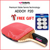 Butterfly ADDOY P20 Table Tennis Racket Penholder Paddle Ping Pong Racket Ball