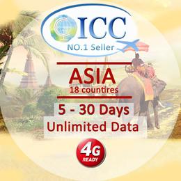 ◆ICC◆【Asia SIM Card· 5-15 Days】❤4G LTE + Unlimited Data❤HK/ Macau/ India/ Cambodia/ Myanmar/ Laos...