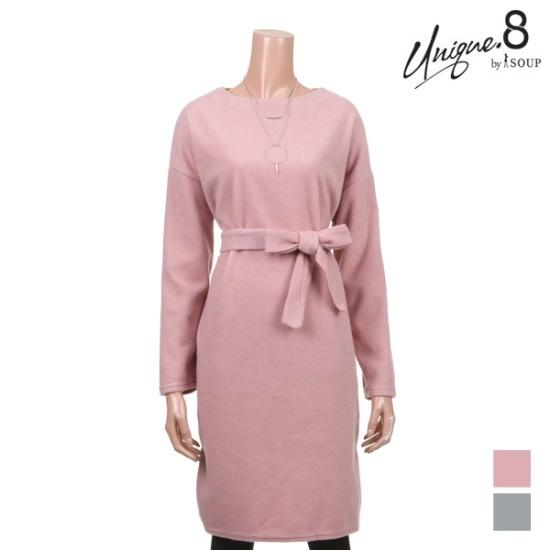 森SOUPフォーミング・ベルテッド・ラジアル・ラウンドワンピースSTKOP30 面ワンピース/ 韓国ファッション