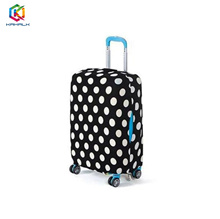 Luggage cover (Black and White Dots)