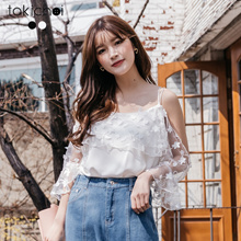 TOKICHOI - Yarn Embroidered Off-shoulder Top-190236