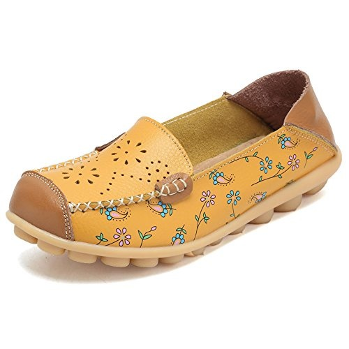 58ace2cf4429 fit to viewer. prev next. CIOR Womens Genuine Leather Loafers Casual  Moccasin Driving Shoes Indoor Flat Slip-On Slippers