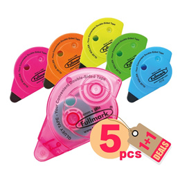 [Buy 1 Box Free 1 Box]5pcs x Fullmark Glue Tape Roller(Assorted) - 6mm X 18m