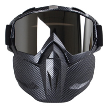 Motorcycle Face Mask With Goggles, Fog-proof Windproof Open Face Helmet For Motocross, Skiing, Ridin