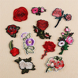 25 Different Style Embroidered Iron On Patches Flower Sequins Deal Clothing DIY Applique