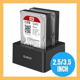 Orico Hard Disk Drive Docking Station 6619US3 6629US3 6228US3 Dual Bay Slot SSD HDD SATA USB 3.0