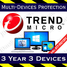 Trend Micro Multi-Protection -3 YEAR 3 DEVICEs ** Trendmicro Security antivirus anti virus