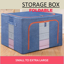 Storage Box Foldable Durable Good Quality Supported by Metal Bars