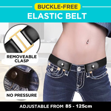 Buckle-Free Elastic Belt Buckle Free No Buckle Stretch Belt Womens Plus Belts for Jeans Pants Dresse
