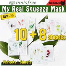 NEW!! [innisfree] My Real Squeeze Mask  20ml  (10sheets + 8sheets )
