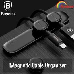 Baseus Peas Cable Clip (Magnetic) Desktop Tidy Organiser USB Charger Line Holder Home TUP Car Cable