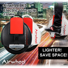 Airwheel X3 Electric Unicycle (130wh)/lighter/spacesaving/portable/foldable pedals