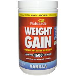 Naturade Weight Gain Instant Nutrition Drink Mix Vanilla 20.3 oz (576 g)