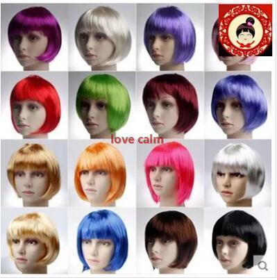 halloween costume party supplies short hair wig girl hair bobo hair wig variety can pick