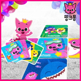 [PINKFONG] Anti-Slip Pads 5EA/Adhesive Bathroom Non-Slip Sticker/Toilet Anti Slip Tape/Safety Walk