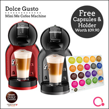 [NESCAFE] DOLCE GUSTO Mini Me (Cherry Black/Piano black/Red)  FREE Capsules and holder worth $39.90