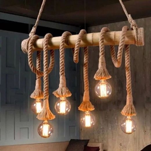 Vintage Rustic Rope Pendant Lights