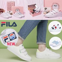 【フィラ】FILA 可愛いスニーカーCOAT DELUXE/正規品/イチゴ牛乳/メロナ/メロン/ピンク/ベルコロOriginal Womens Coat DELUXE Canvas Velcro