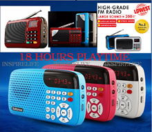 [LOWEST PRICE] Portable FM Radio player with SD card and Thumb drive slot Auto Tuning