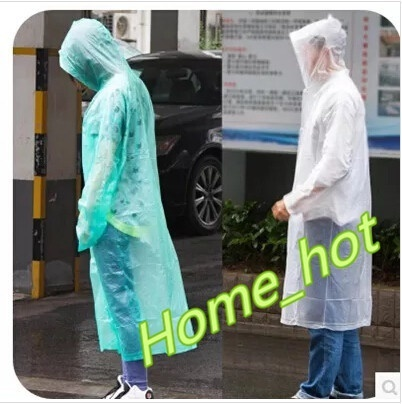 b2c2883fed9d Creative Size pvc raincoat transparent adult adult outdoor hiking poncho  raincoat thickened Siamese