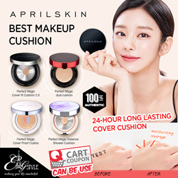 [APRIL SKIN]  Perfect Magic Cover Fit Cushion 2.0 / Fixing Dual Concealer / cushion/ makeup
