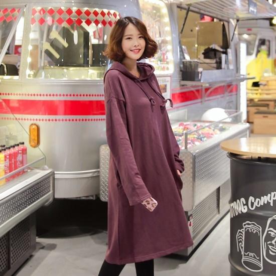 ピンクシスレーキングスをフードワンピース 綿ワンピース/ 韓国ファッション