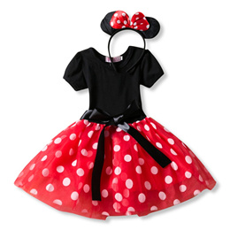 DISNEY MINNIE MOUSE DELUXE CHILD COSTUME Halloween Cosplay Fancy Dress G4