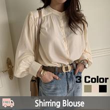 ★ Korea Fashion Business No.1 Naning9 ★ Free Shipping ♥ 2019 S / S NEW! Blouse / Eldren Shirring Blouse