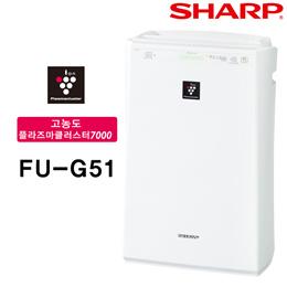 FU-G51-W 화이트 FU-F51-W 공기청정기 / 무료배송 / 관부가세 포함가 /  샤프 공기 청정기