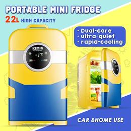 KEMIN 22L车载迷你冰箱迷你冰箱制冷暖气适用于家用和车用便携式冰箱12V 220V