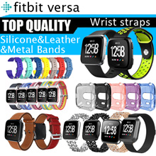 💋Hot stuff💋Fitbit Versa watch straps band Soft Silicone Classic leather metal stain sport strapsSG