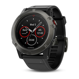 Garmin Fenix 5X Sapphire GPS Watch with Wrist-based Heart Rate (Slate Gray 51mm Diameter)