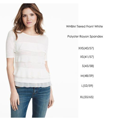 WHBM Tierred Front White